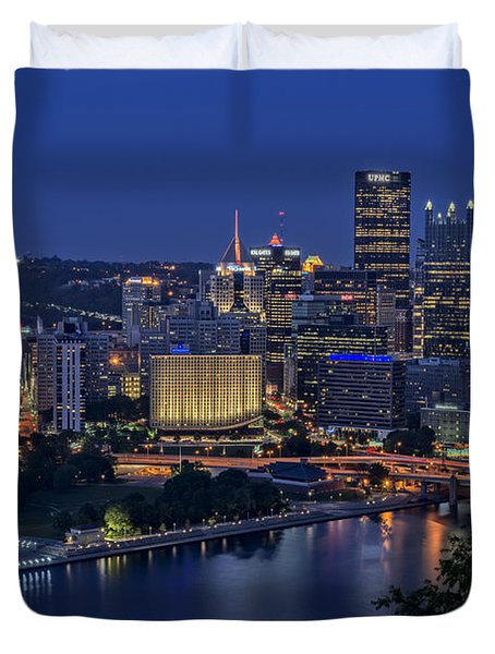 Steel City Glow Duvet Cover