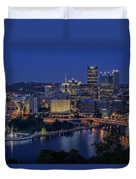 Steel City Glow Duvet Cover