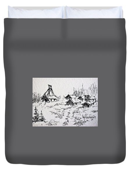 Steel Creek Mine Montana Duvet Cover by Kevin Heaney