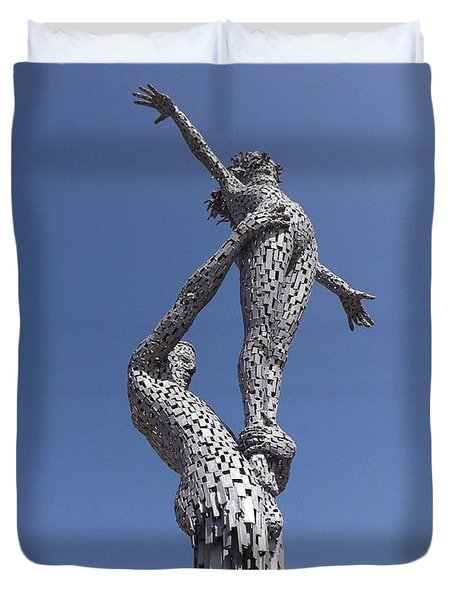 Steel People Duvet Cover