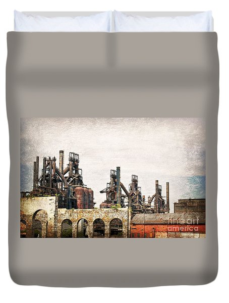 Steel Stacks  Duvet Cover