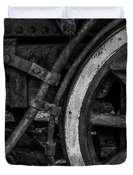 Steel Wheels In Monochrome Duvet Cover