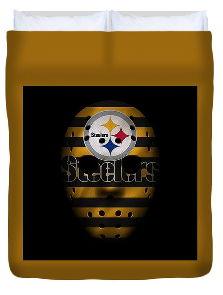 Steelers War Mask 2 Duvet Cover