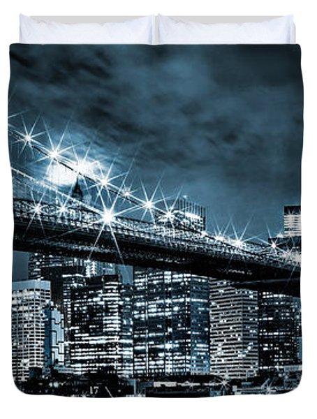 Steely Skyline Duvet Cover