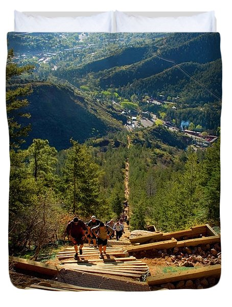 Steep Manitou Incline And Barr Trail Duvet Cover