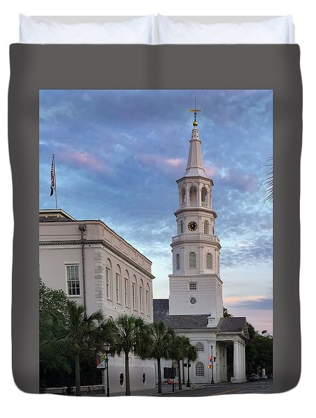 Steeple At Dusk Duvet Cover