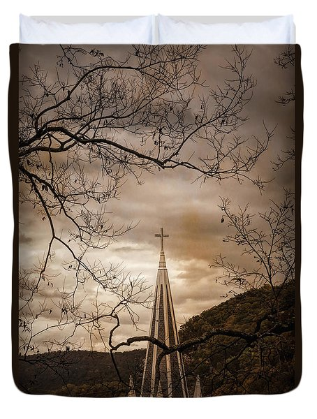 Steeple Of Time Duvet Cover