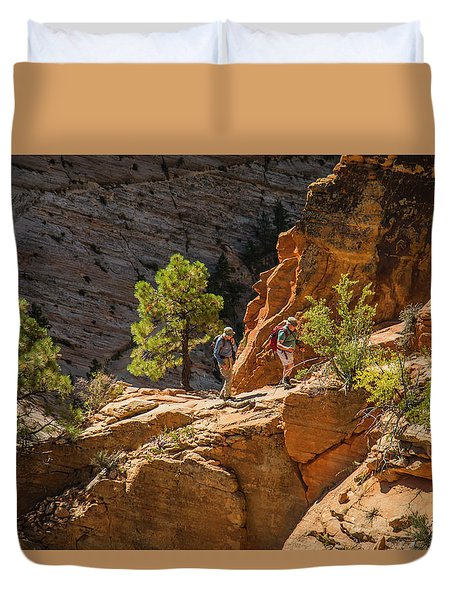 Steeply Up The Canyon Duvet Cover