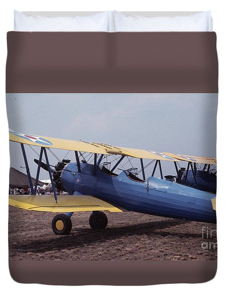 Duvet Cover featuring the photograph Steerman by Donald Paczynski