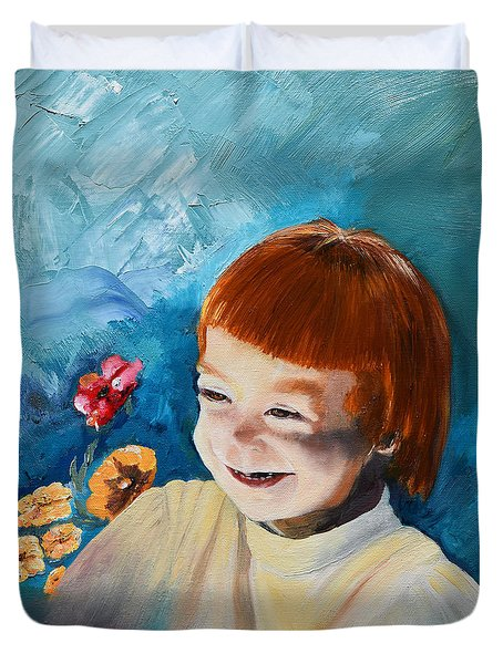 Stefi- My Trip To Holland - Red Headed Angel Duvet Cover