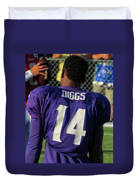 Stefon Diggs Duvet Cover by Kyle West