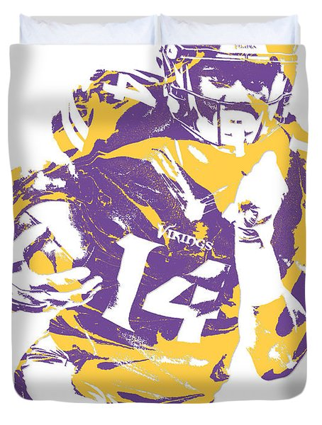 Stefon Diggs Minnesota Vikings Pixel Art 2 Duvet Cover