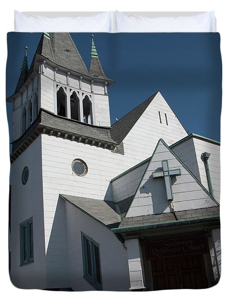 Steinwy Reformed Church Steinway Reformed Church Astoria, N.y. Duvet Cover