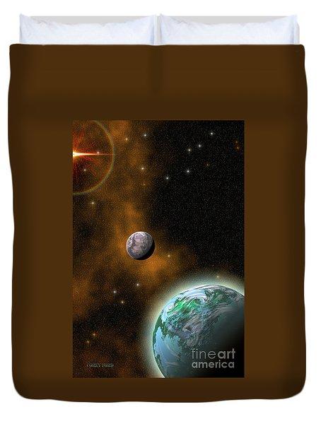 Stellar Smoke Ring Duvet Cover by Corey Ford