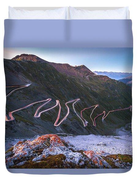 Stelvio Pass Duvet Cover