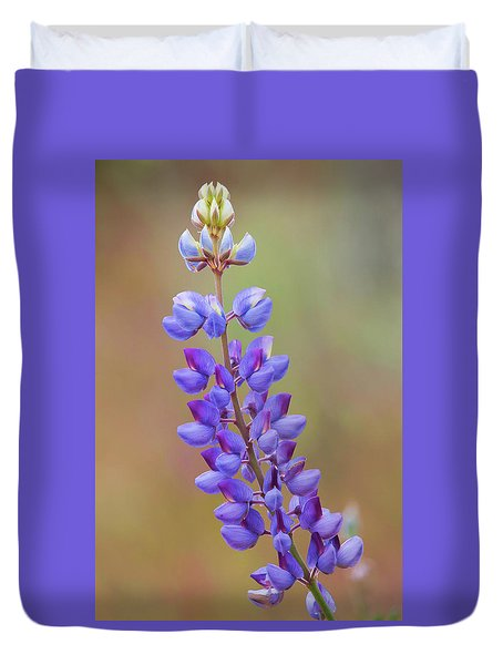 Duvet Cover featuring the photograph Stem Of Lupines by Ram Vasudev