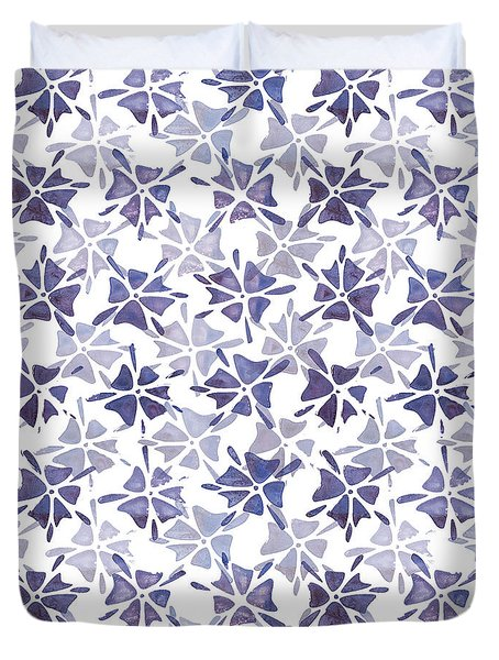 Stencilled Floral Duvet Cover