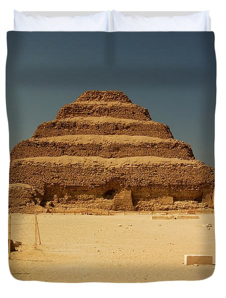 Step Pyramid 2 Duvet Cover by Joe  Ng