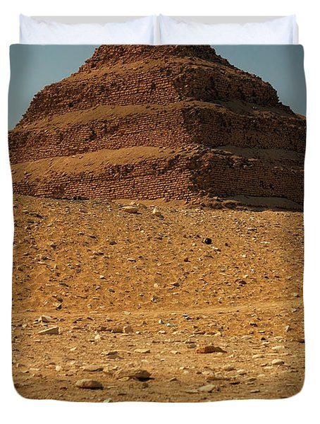 Step Pyramid Duvet Cover by Joe  Ng