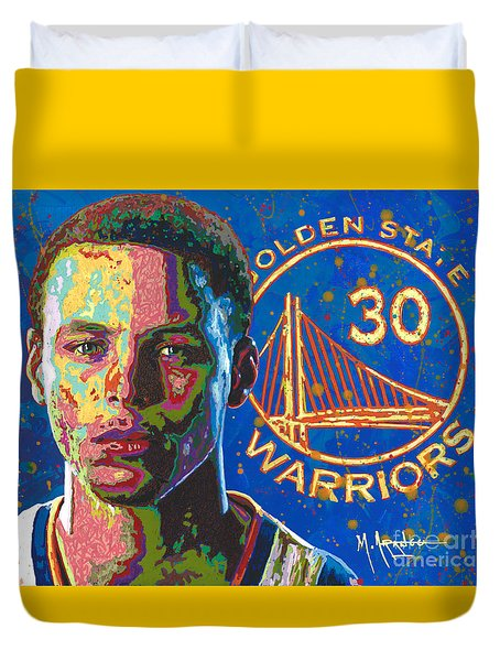 Steph Curry Duvet Cover