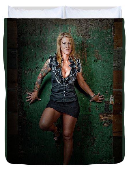 Stephanie Green Door Duvet Cover