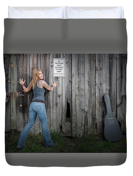 Stephanie Guitar Barnwood Duvet Cover