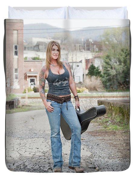 Stephanie Guitar Standing 1 Duvet Cover