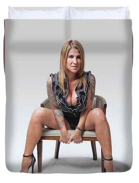 Stephanie Sitting 2 Duvet Cover