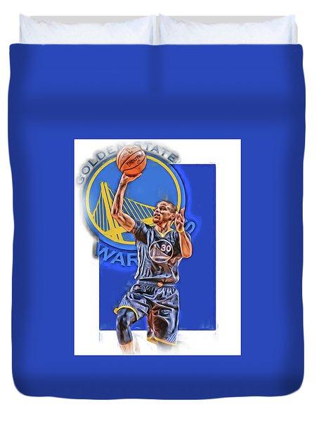 Stephen Curry Golden State Warriors Oil Art 2 Duvet Cover