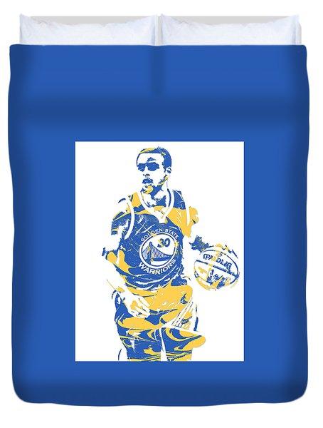 Stephen Curry Golden State Warriors Pixel Art 21 Duvet Cover