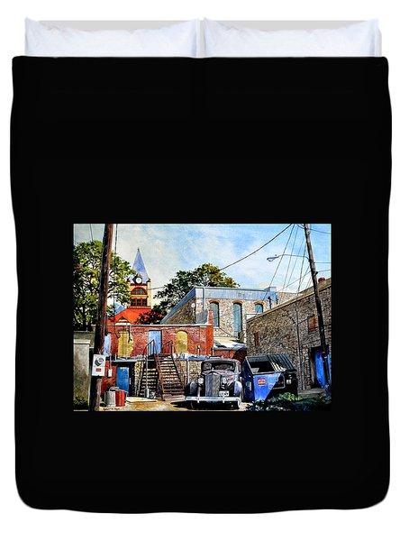 Stephenville Alley  Duvet Cover