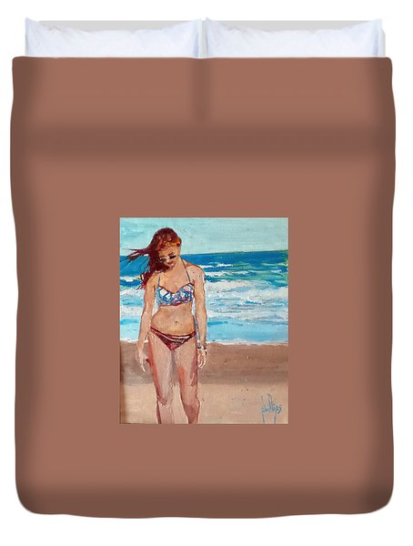 Stephie On The Beach Duvet Cover