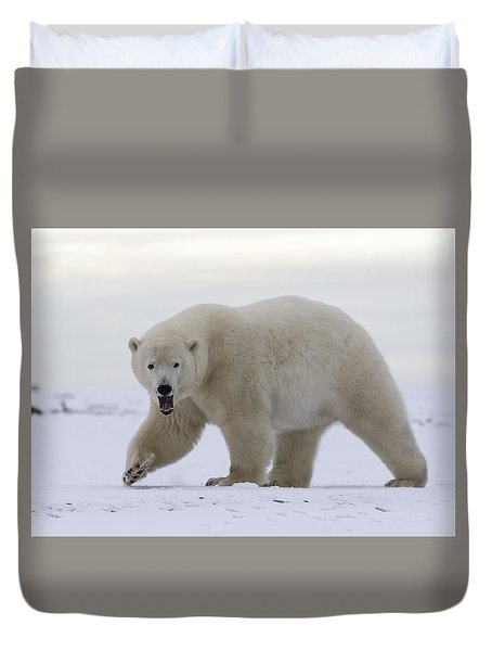 Stepping Out In The Arctic Duvet Cover
