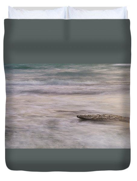 Duvet Cover featuring the photograph Stepping Stone by Alex Lapidus