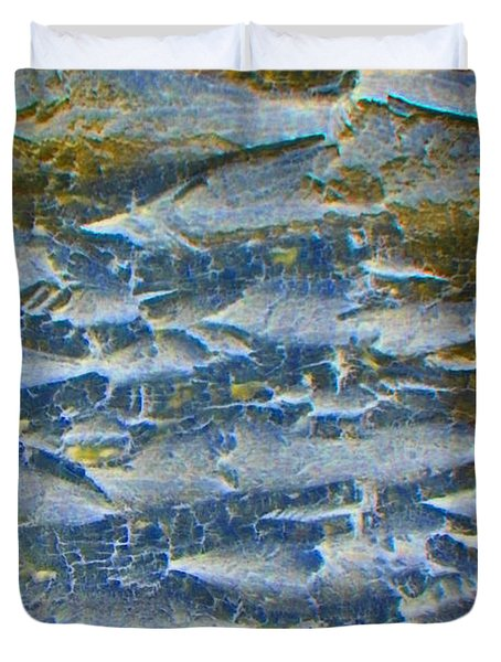 Duvet Cover featuring the photograph Stepping Stones by Lenore Senior