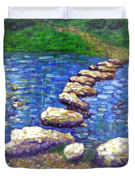 Stepping Stones Duvet Cover