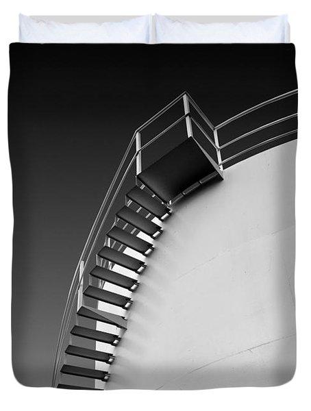 Stepping Up Duvet Cover by Joe Bonita
