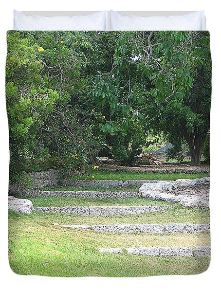 Steps In Fairchild Gardens Duvet Cover