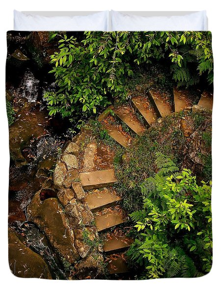 Steps Leading Up The Stairway To Heaven Duvet Cover
