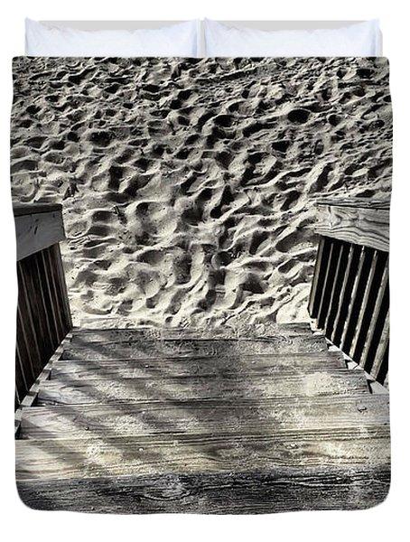 Steps To The Beach Duvet Cover