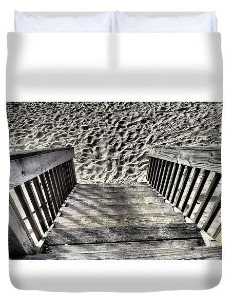 Steps To The Beach Duvet Cover
