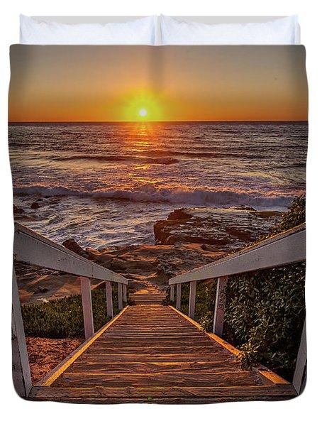 Steps To The Sun  Duvet Cover