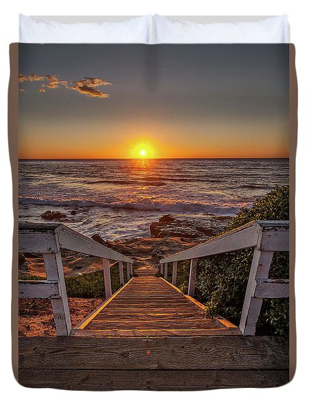 Steps To The Sun  Duvet Cover