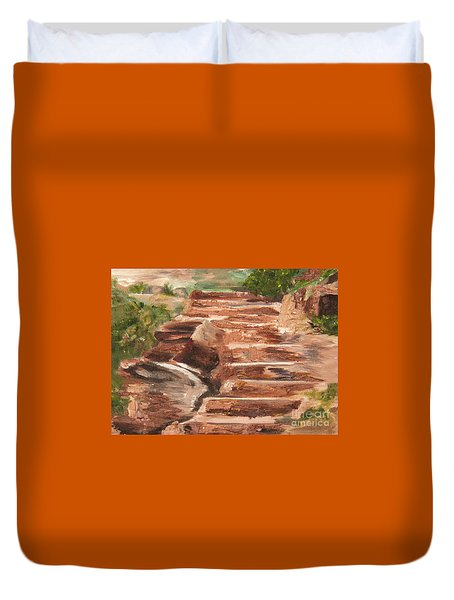 Steps To Zion Duvet Cover