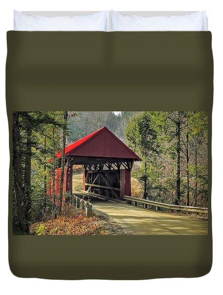 Sterling Covered Bridge Duvet Cover