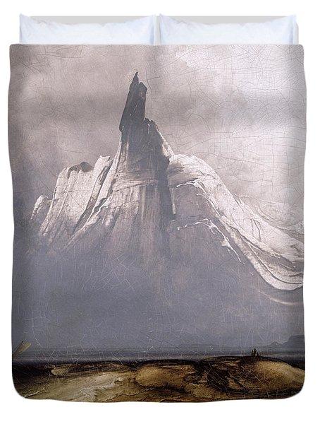 Stetind In Fog Duvet Cover