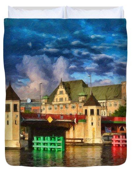 Stettin Bridge - Pol890431 Duvet Cover
