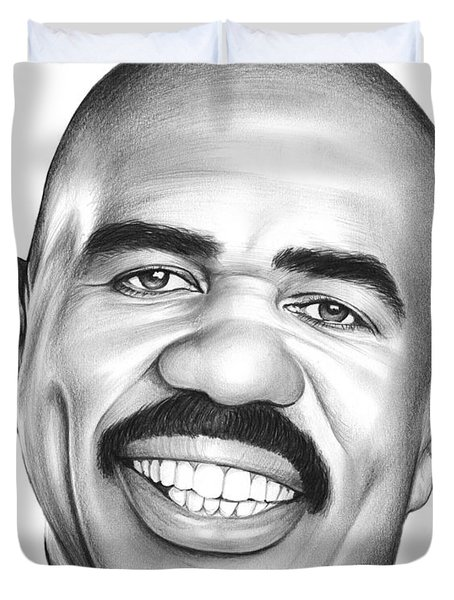 Steve Harvey Duvet Cover by Greg Joens