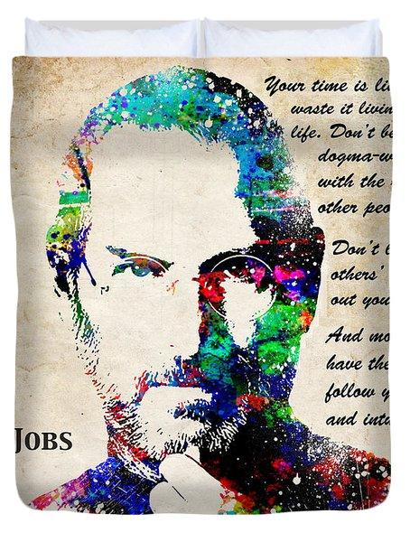 Steve Jobs Portrait Duvet Cover