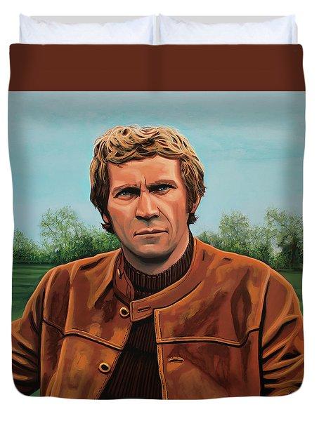 Steve Mcqueen Painting Duvet Cover by Paul Meijering